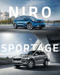 Kia Niro and Kia Sportage