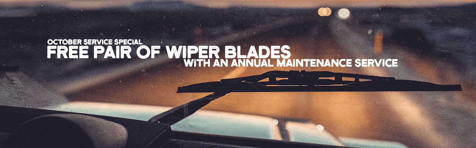 Free Wiper Blades with Maintenance